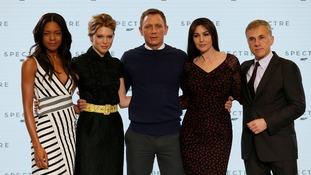 Naomie Harris, Lea Seydoux, Daniel Craig, Monica Bellucci and Christoph Waltz
