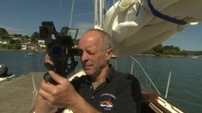 An RNLI volunteer from Cornwall is challenging himself to travel the seas without modern technology