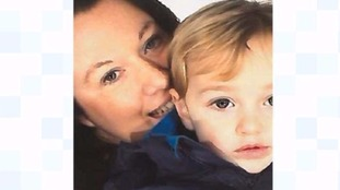 Rebecca Minnock and son Ethan