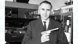 Sir Christopher Lee, pictured in 1974