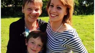 Sean Irwin, his mum and grandmother
