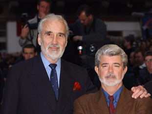 George Lucas (rights) said Christopher Lee was a 'real gentleman'