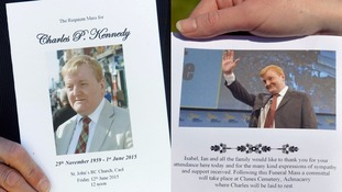 The Order of Service at the funeral of Charles Kennedy