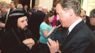 Bishop Anba Angaelos and Prime Minister David Cameron