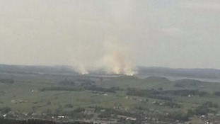 The fire spread quickly.