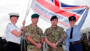 Torpoint will be raising the Armed Forces flag today