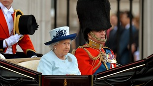 Trooping the Colour parade marks the Queen's official birthday