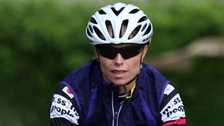 Kate McCann has begun her 500-mile cycle challenge.