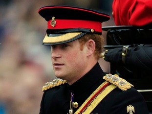 Prince Harry joined Camilla and Catherine in the carriage.