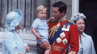 A very young Prince William pictured at Trooping the Colour in June 1984.
