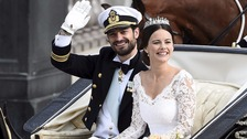 Sweden's Prince Carl Philip has wed former glamour model Sofia Hellqvist