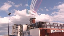 RAF Red Arrows in Cardiff