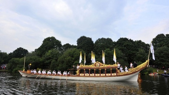 Royal rowbarge Gloriana