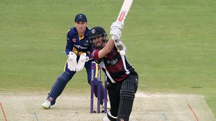 Somerset's Tom Cooper scored a career-best of 84 not out.