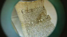 An original Magna Carta from the issue made in 1300 by King Edward l.