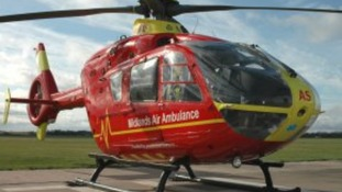 The Midlands Air Ambulance Service were sent to the scene.