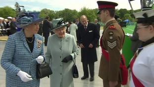 The Queen and Duke of Edinburgh arrive at Runnymede Meadows