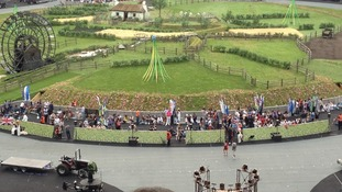 The stage is set for the Opening Ceremony