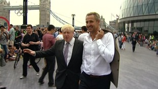 Boris Johnson and Mark Austin