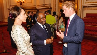 Prince Harry meets with the President of Gabon Ali Bongo Ondimba