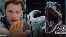 Chris Pratt stars alongside a raptor