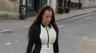 Rebecca Minnock arriving at court today.
