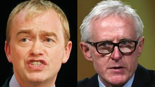 Tim Farron (left) and Norman Lamb (right) will go head to head on ITV this Thursday.