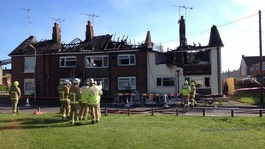 Homes affected by large fire in Ashford