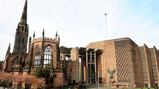A general view of the Coventry Cathedral ruins.