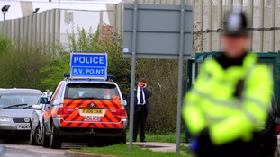Police outside HMP Ashwell near Oakham, Rutland, Leicestershire as specialist officers deal with a disturbance inside the prison.