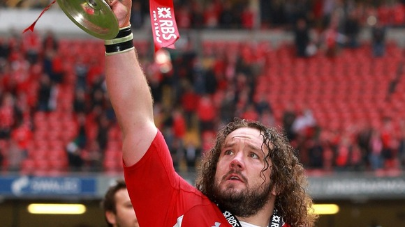 Adam Jones and the 6 Nations trophy