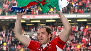 Alun Wyn Jones during the team's lap of honour