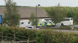 Police at Haddon service station.