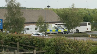 Police at Haddon services