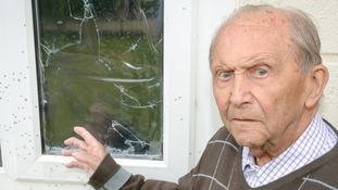 Pensioner who survived the Blitz narrowly avoids being shot in his own home