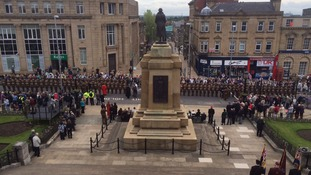Freedom parade through Barnsley for Yorkshire Regiment