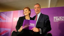Suzanne Evans and Nigel Farage during the launch of Ukip's manifesto