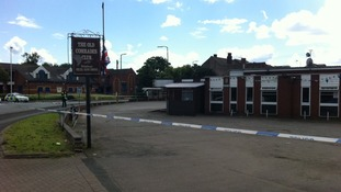The scene in Smethwick where the teen was found