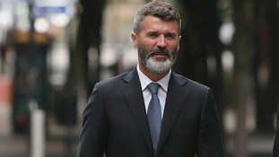 Roy Keane arrives at Manchester Magistrates' Court,