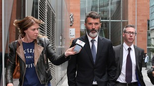Roy Keane leaves court after being cleared over the road-rage incident