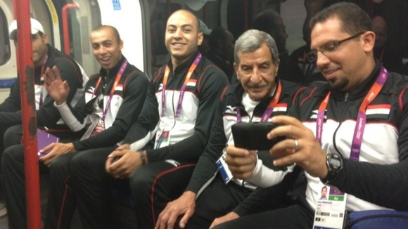 Team Egypt on the Central Line