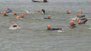 2,000 swimmers dived into Alton Water in Suffolk for the 2015 Great East Swim