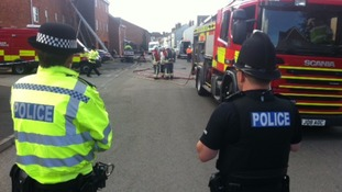Three people have been killed in a house fire in Derbyshire