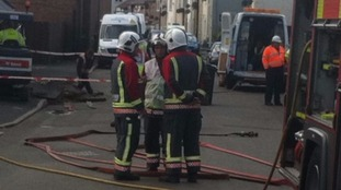 Fire fighters at the scene