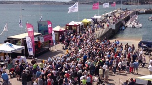 Hundreds in Torquay for Solitaire du Figaro