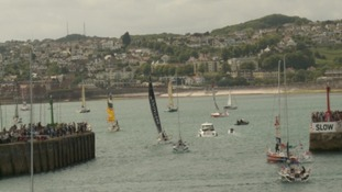 Thousands turn out in Torquay for third leg of Solitaire du Figaro