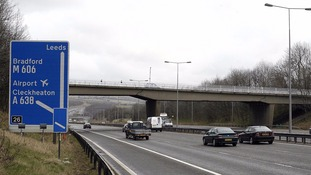 The 'lane-hogging' took place on the M62 in August.