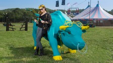 EE has introduced the Charging Bull for this year's Glastonbury Festival