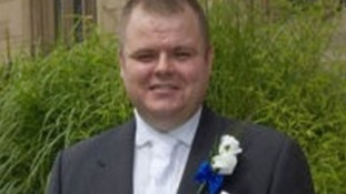 Pc Neil Doyle, pictured on his wedding day.