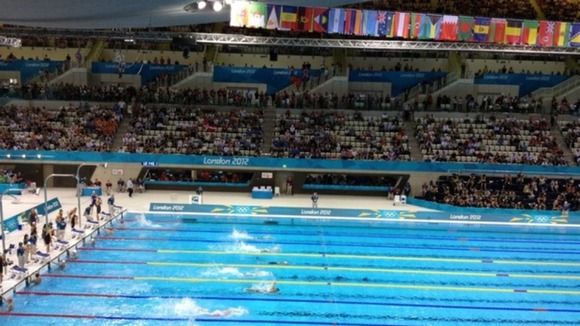 Empty seats at the Aquatic Centre